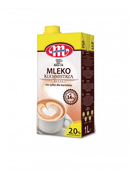 Mleko UHT Kuchmistrza, nie tylko dla baristów. 2% 1 L