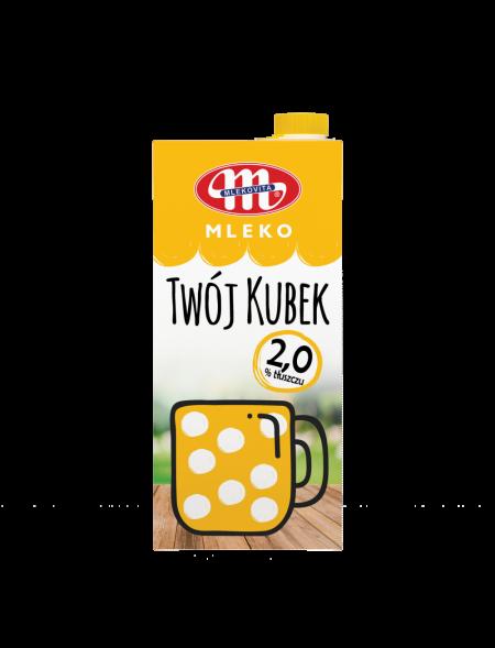 Mleko UHT Twój Kubek 2% tł. 1 L