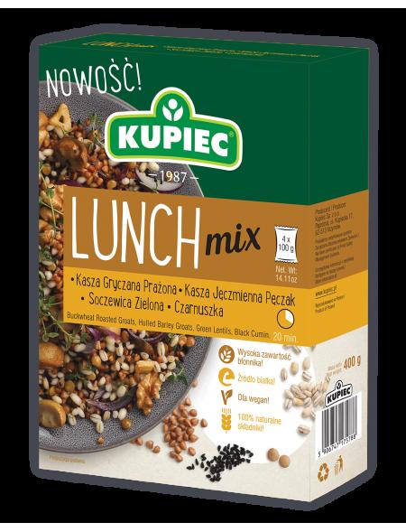 Lunch Mix kasza gryczana, pęczak, soczewica, czarnuszka 400 g