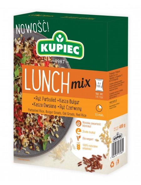 Lunch Mix ryż parboiled, bulgur, ryż czerwony, kasza owsiana 400 g