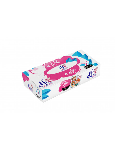 Chusteczki higieniczne w pudełku Elfi 100 szt.