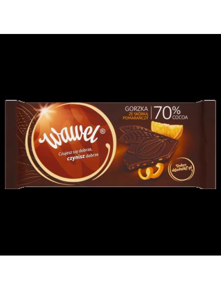 Wawel Czekolada Premium Gorzka 70% z cząstkami pom.100g
