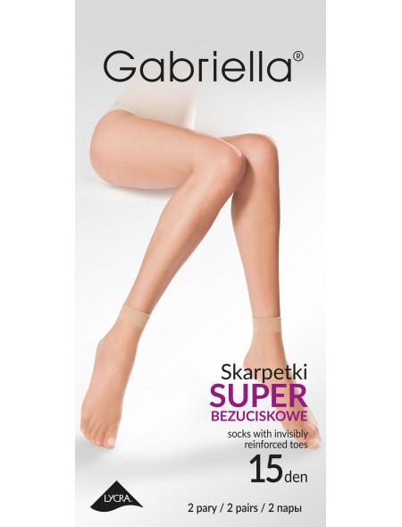 Skarpetki Gabriella, beż