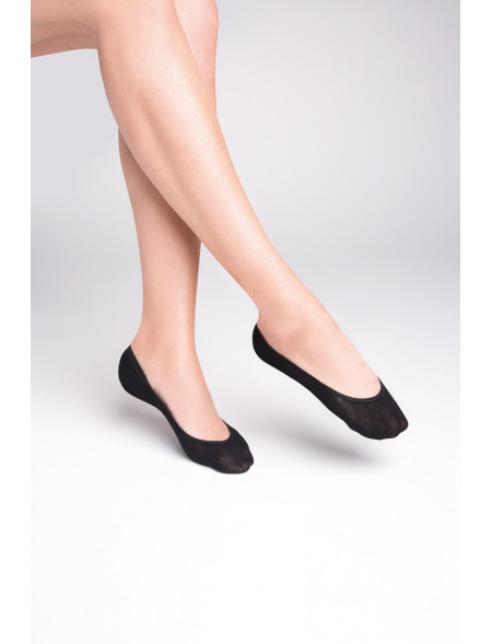 Skarpetki stopki, Gabriella - mikrofibra, czarne