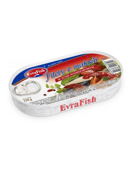 Filet z makreli w sosie pomidorowym 170 g