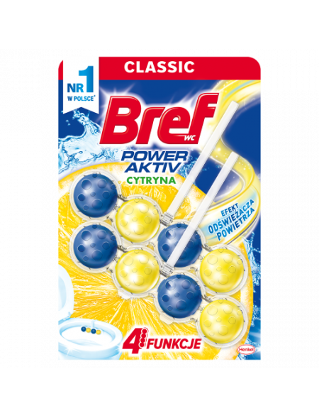 Bref Power-Aktiv 2x50 g Total, zawieszka do muszli WC, soczysta cytryna