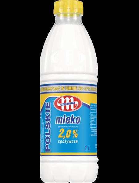 Mleko Polskie 2% tł., butelka PET 1 L (16.05.2021 r.) x3