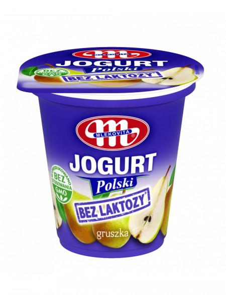 Jogurt Polski bez laktozy gruszkowy 150 g (01.08.2021 r.) x3